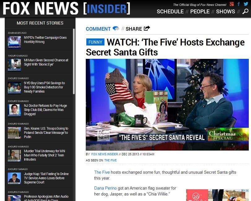 04.23.14 FOX NEWS GIFT EXCHANGE