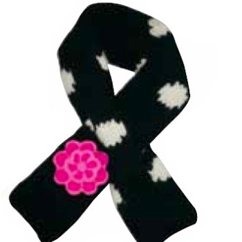 black polka dot scarf - catalog