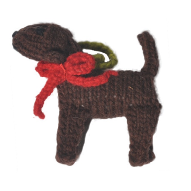 Chocolate Lab Dog Ornament - Chilly Dog Sweaters