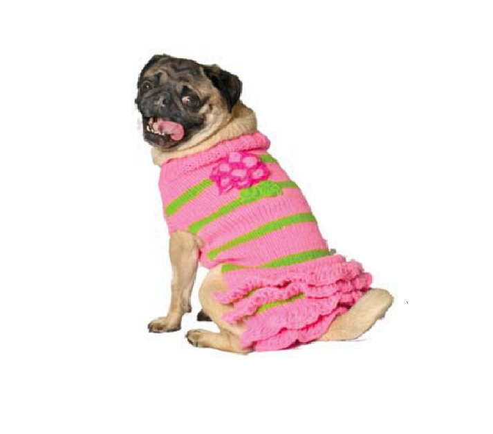 Pink flower skirt dog sweater chilly dog sweaters pink flower skirt dog sweater mightylinksfo