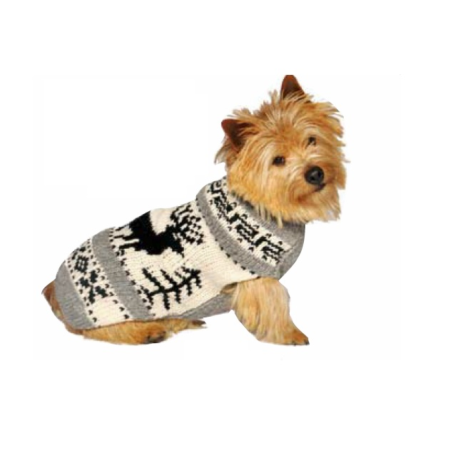 Reindeer Shawl Dog Sweater Chilly Dog Sweaters