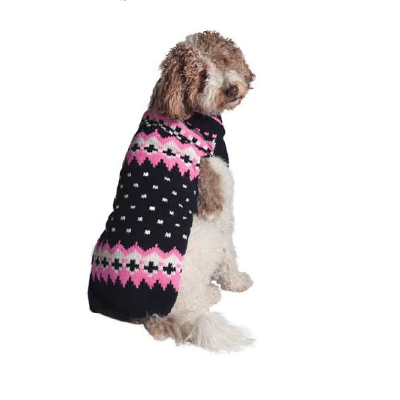 Navy & Pink Fairisle - Chilly Dog Sweaters