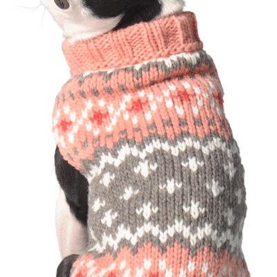 Peach Fairisle Dog Sweater - Chilly Dog Sweaters