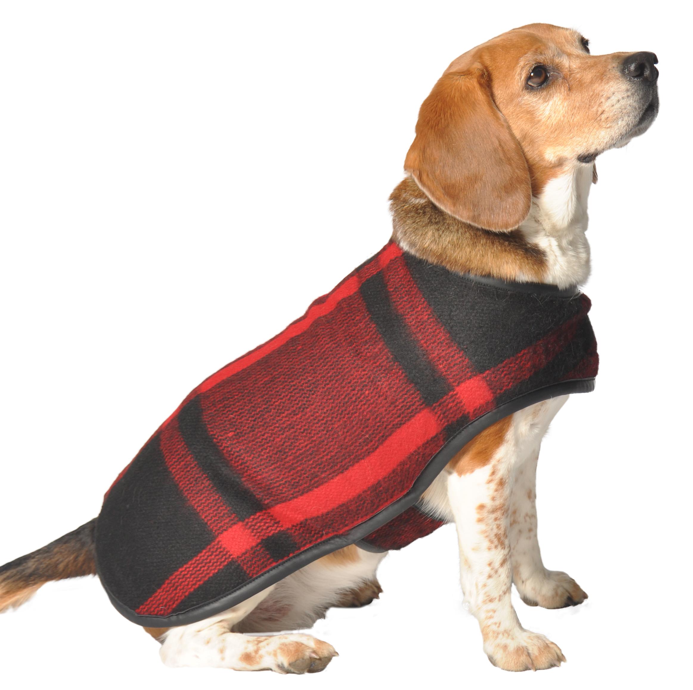 Green and Black Plaid dog Blanket Coat